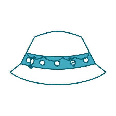 Fisher Hat geïsoleerde pictogram vector illustratie ontwerp Stockfoto - 82357003