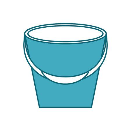 낚시 양동이 격리 된 아이콘 벡터 일러스트 레이 션 디자인