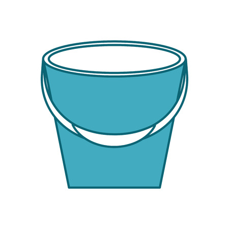 Fishing bucket isolated icon vector illustration design
