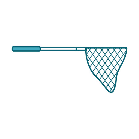 fishing net isolated icon vector illustration design Stock Vector - 82357006