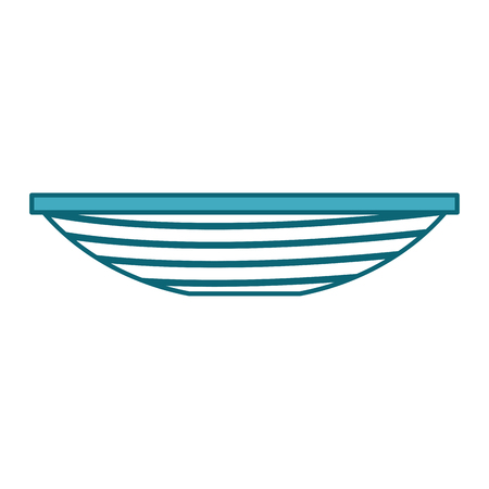 Fishing canoe isolated icon vector illustration design