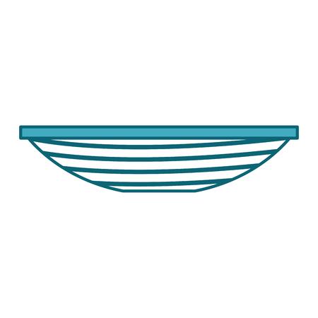 Vector de illustratieontwerp van het visserijkan geïsoleerd pictogram