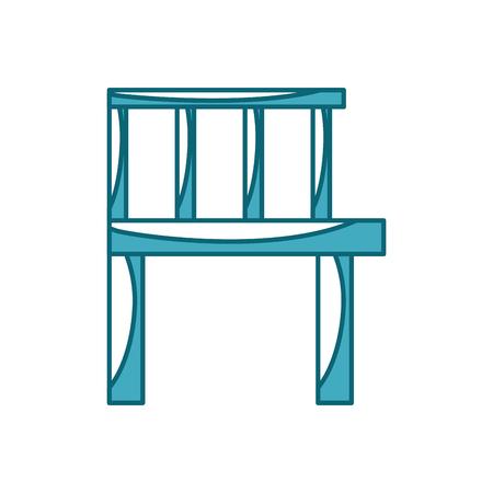 Wooden pier isolated icon vector illustration design Stock fotó - 82358273