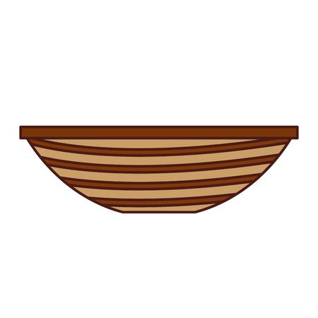 釣りカヌー分離アイコン ベクトル イラスト デザイン  イラスト・ベクター素材