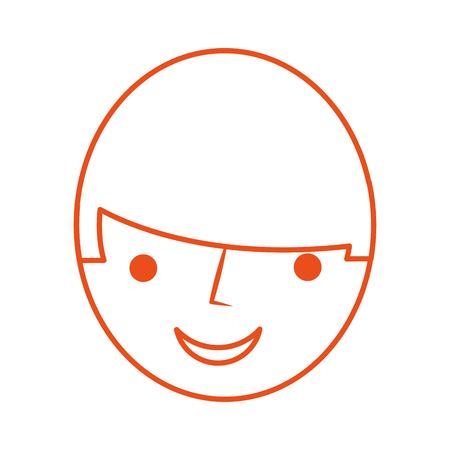 head man avatar character vector illustration design Ilustrace