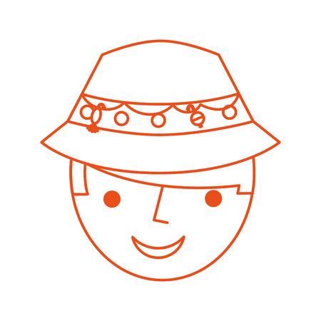 Pescador con sombrero avatar carácter ilustración vectorial diseño Foto de archivo - 82357178