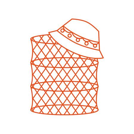 물고기 함정 격리 된 아이콘 벡터 일러스트 디자인
