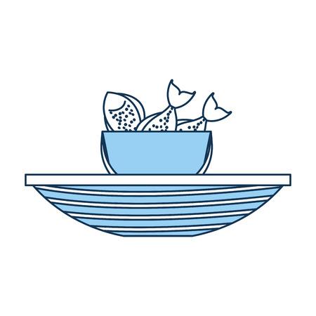 釣りボート ベクトル イラスト デザインのバケツ