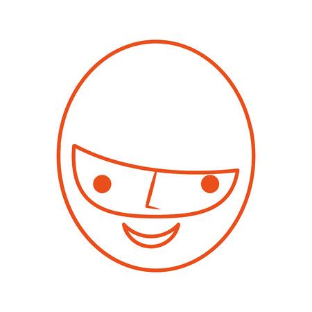 Tête homme avatar conception vecteur de caractères illustration Banque d'images - 82358409