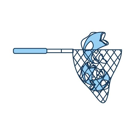 낚시 그물 격리 된 아이콘 벡터 일러스트 레이 션 디자인