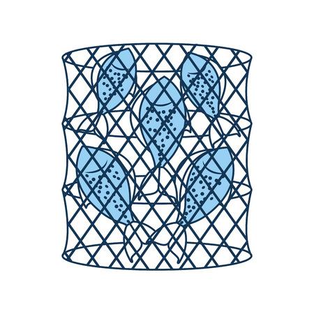 Trampa de peces icono aislado diseño de ilustración vectorial Foto de archivo - 82358417