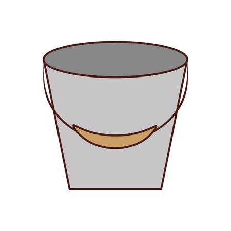 Fishing bucket isolated icon vector illustration design