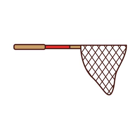 釣りネットの分離アイコン ベクトル イラスト デザイン