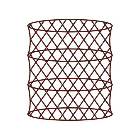 Fish trap isolated icon vector illustration design Stock Vector - 82347697
