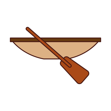 Fishing canoe isolated icon vector illustration design