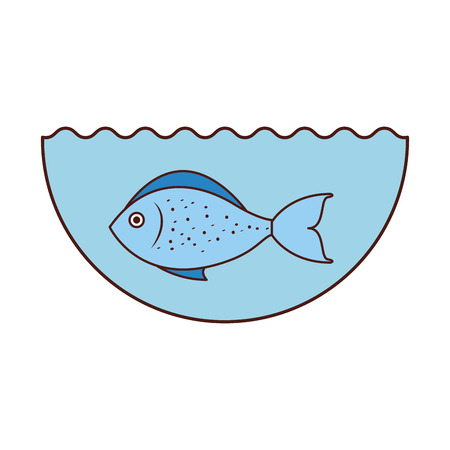 sea fish isolated icon vector illustration design