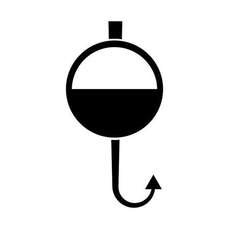 Fisch Haken isoliert Symbol Vektor-Illustration Design Standard-Bild - 82358564