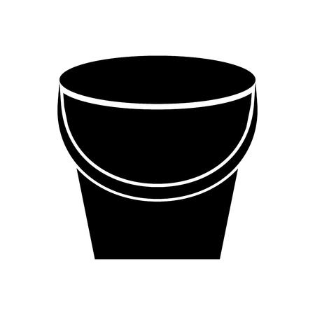 Visserij emmer geïsoleerd pictogram vector illustratie ontwerp