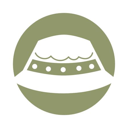 フィッシャー ハット分離アイコン ベクトル イラスト デザイン