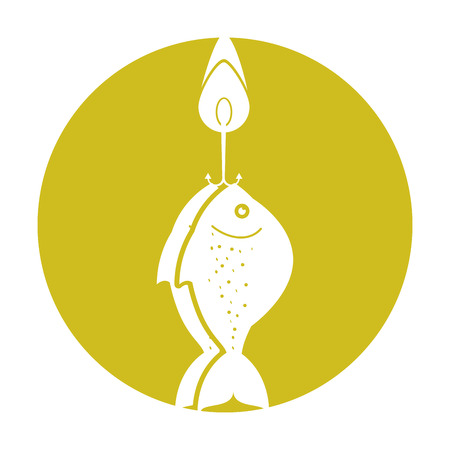 fishhook: fish hook isolated icon vector illustration design