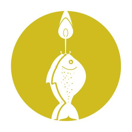 Vis haak geïsoleerd pictogram vector illustratie ontwerp Stock Illustratie