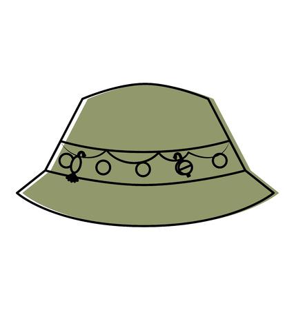 fisher hat isolated icon vector illustration design Illusztráció