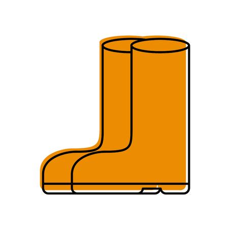 Gummistiefel isoliert Symbol Vektor-Illustration Design Standard-Bild - 82358738