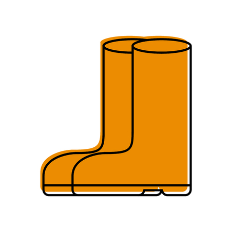 rubber boots isolated icon vector illustration design