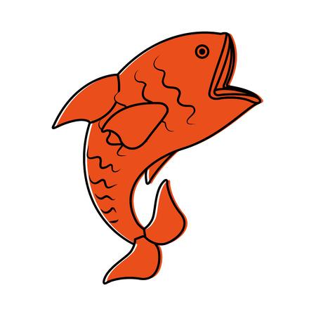 Mar de peces aislado icono de ilustración vectorial de diseño Foto de archivo - 82358751