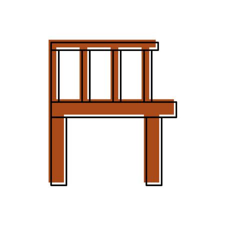 木製の桟橋が分離されたアイコン ベクトル イラスト デザイン 写真素材 - 82358753