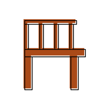 Wooden pier isolated icon vector illustration design
