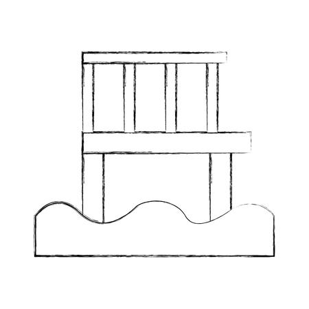 Jetée en bois isolé icône vector illustration design Banque d'images - 82358880