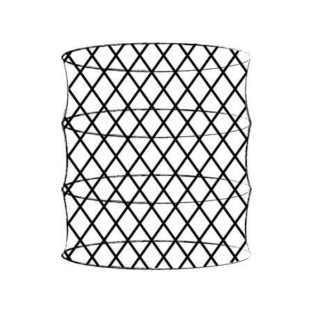 Illustrazione vettoriale illustrazione di icona isolato trappola di pesce Archivio Fotografico - 82358940