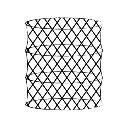 Fish trap isolated icon vector illustration design Illustration