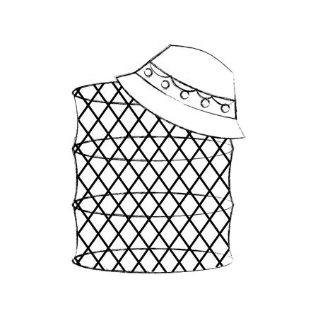 Trampa de peces icono aislado diseño de ilustración vectorial Foto de archivo - 82358954