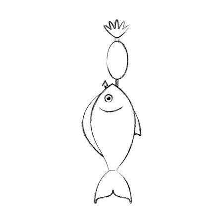 魚フック分離アイコン ベクトル イラスト デザイン  イラスト・ベクター素材