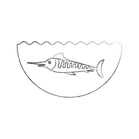 Mar de peces aislado icono de ilustración vectorial de diseño Foto de archivo - 82359277
