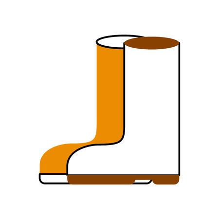 Gummistiefel isoliert Symbol Vektor-Illustration , Design , Standard-Bild - 82359182