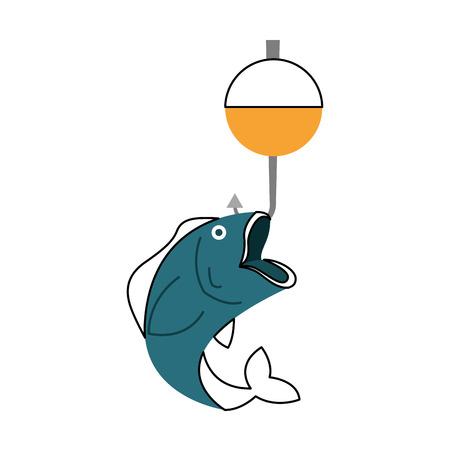 Fisch Haken isoliert Symbol Vektor-Illustration Design Standard-Bild - 82360077