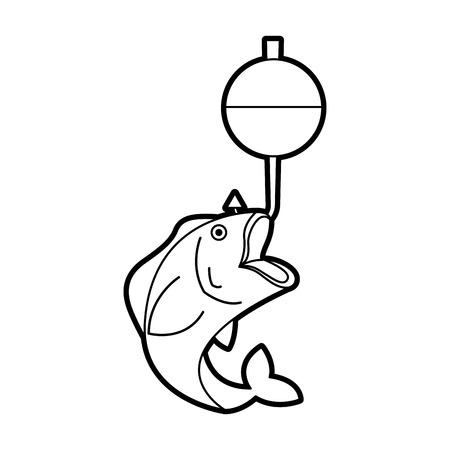 Anzuelo aislado icono de ilustración vectorial de diseño Foto de archivo - 82360082