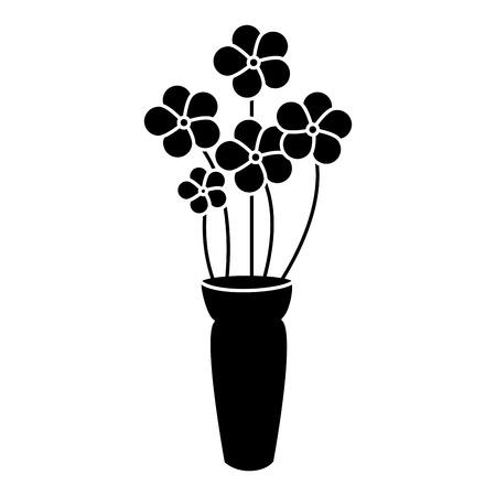 cute bouquet of flowers vector illustration design 向量圖像