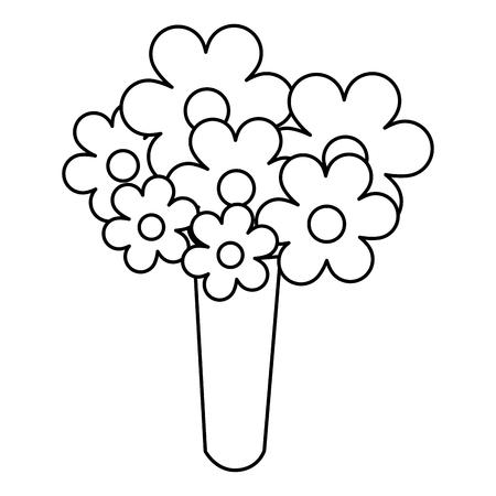 cute bouquet of flowers vector illustration design 版權商用圖片 - 82364759