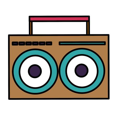 music player vintage style vector illustration design