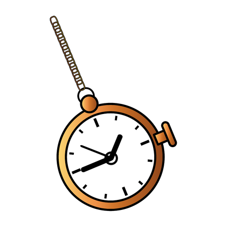 retro Pocket Watch icon vector illustration design Ilustrace