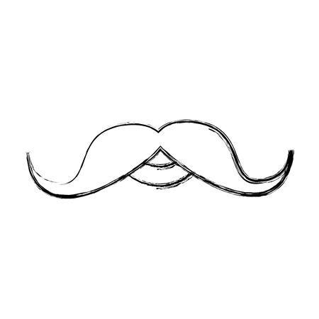 old fashioned: gentleman mustache isolated icon vector illustration design