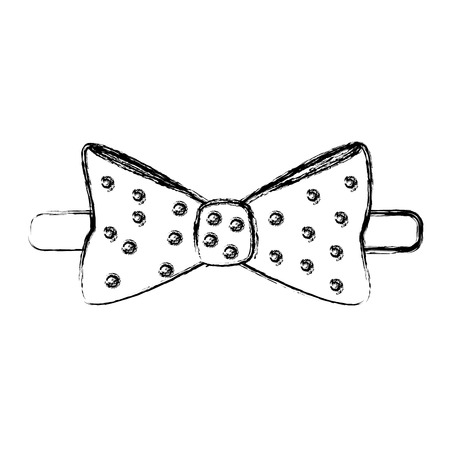 elegant bowtie isolated icon vector illustration design