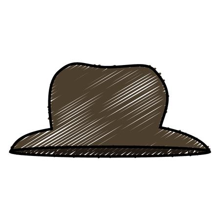 heer hoed geïsoleerd pictogram vector illustratie ontwerp