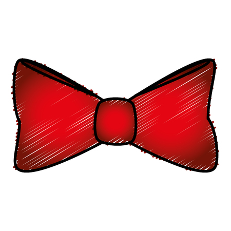 elegant bowtie isolated icon vector illustration design