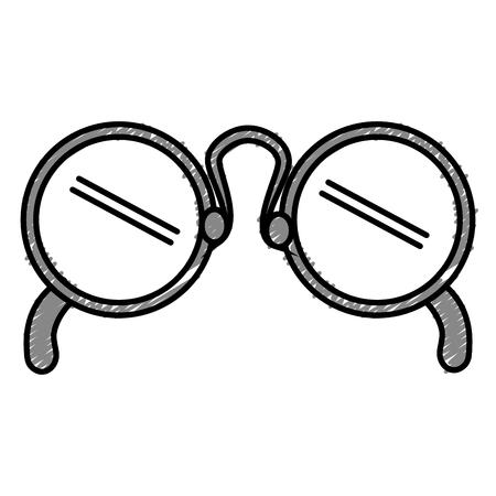 Oogglazen geïsoleerd pictogram vector illustratie ontwerp Stockfoto - 82406281