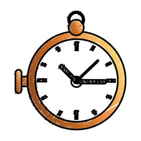 retro Pocket Watch icon vector illustration design Ilustrace